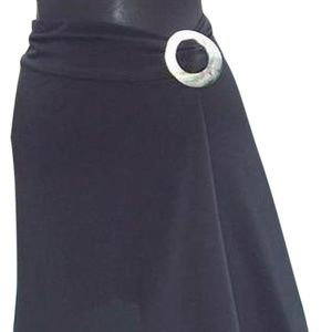 Mother Of Pearl SelfBelt Buckle Asymmetrical Skirt